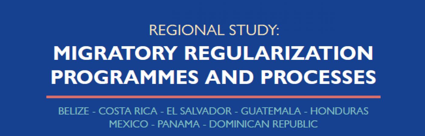 Regional Study: Migratory Regularization Programmes and Processes